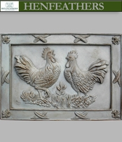 Deux Rooster  bas relief