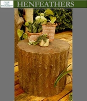Upper Saranac Faux Bois Log Table / Garden Seat