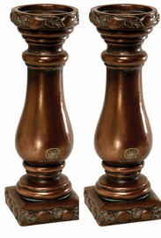 """Fruit Design Candle Holders- 14.75"""", PAIR"""