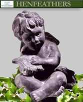 Cherub with Harp and Lamb {USA}