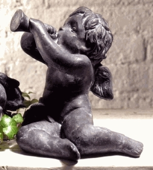 Garden Statues | Angel Statues | Cherub with Trumpet  {USA}