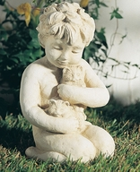 Girl with Kittens, Child Statue  {USA}
