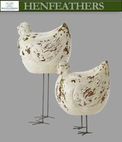 HenFeathers French Hens, Set of 2 (n)