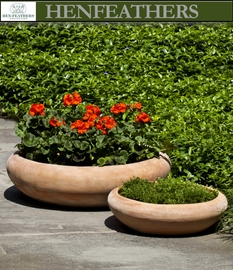 HenFeathers Milano Low Planters Set of 2