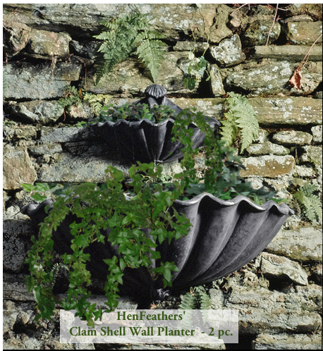 See the HenFeathers 2 pc. Clam Shell Wall Planter