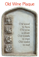 See the Old Wine Plaque