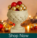 See the French Weave Mantle Urn