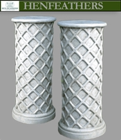 Lattice Weave Pedestal, Pair
