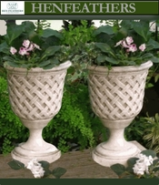 Lattice  Weave Urn Pair {USA}