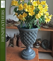 Lattice Weave Basket Urn    {USA}