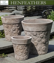 Low Passion Flower Planters Set of 3
