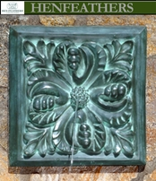 Outdoor Wall Fountains - Bronze Acanthus Leaf