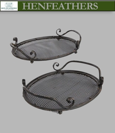 Parisian Cafe Garden Trays, Set of 2 (n)