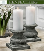 "Tuscan Pillar Candleholder 3"" Set of 4"