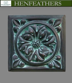 Rosette Bronze Wall Tile 7""