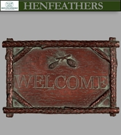 Saranac Welcome Plaque  coldcast copper