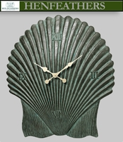 Scallop Shell Clock - Antique Aegean