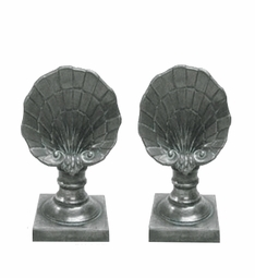 Shell Finial, Boutique Pair