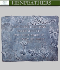 How Thyme Herb Decorative Wall Plaque {USA}