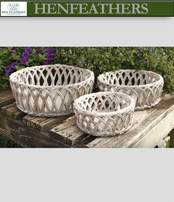 Vintage Weave Planters Set of 3 (n)