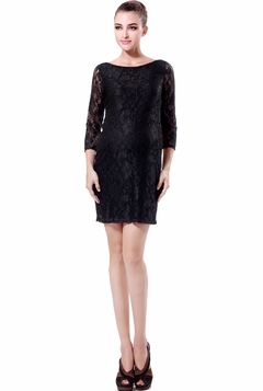 """Momo Maternity """"Belle"""" Stretch Lace Dress - Pre-order"""