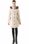 "Momo Maternity ""Izzy"" Hooded Cinch Waist Down Coat"