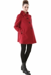 "Momo Maternity ""Kenna"" Wool Blend Colorblock Empire Waisted Coat - Pre-order"