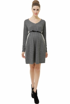 "Momo Maternity ""Lani"" Empire Waist Pullover Sweatshirt Dress"
