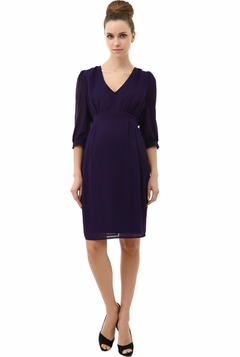 """Momo Maternity """"Lucille"""" Ruched Tulip Dress"""