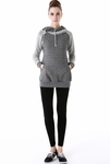 "Momo Maternity ""Mattie"" French Terry Asymmetrical Zip Hoodie - Pre-order"