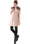"Momo Maternity ""Suzie"" Wool Blend Hooded Double Breasted Walking Coat - Pre-order"