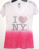 I love NY Ombre Fuschia shirt