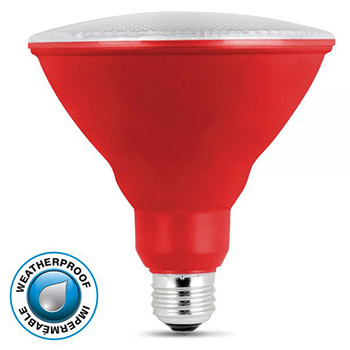 LED PAR38 Red 10K #61716-FET