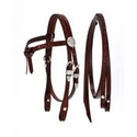 King Series Miniature Horse Futurity Brow Headstall w/Silver