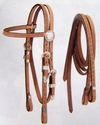 Miniature Horse Roughout Headstall w/Reins **NEW ITEM**