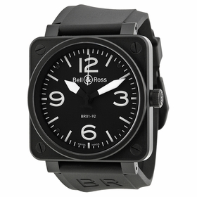 Bell and Ross BR0192-BL-CA Aviation Mens Automatic Watch