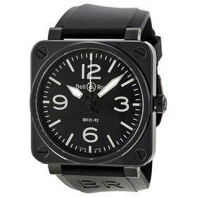 Bell and Ross BR0192-BL-CER/SRB Aviation Mens Automatic Watch