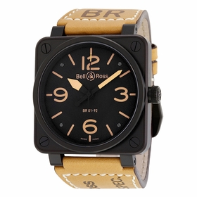Bell and Ross BR0192-BL-HERITAGE Aviation Mens Automatic Watch