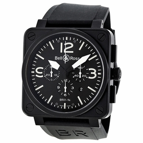 Bell and Ross BR0194-BL-CA Aviation Mens Chronograph Automatic Watch