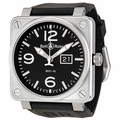 Bell and Ross BR0196-BL-ST Aviation Mens Mechanical Automatic Watch