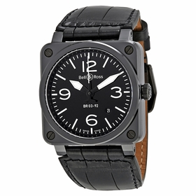 Bell and Ross BR0392-CER-BLP/SCR Aviation Mens Automatic Watch