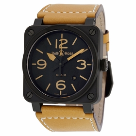 Bell and Ross BR0392-HERITAGE Aviation Mens Automatic Watch