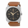 Bell and Ross BR0392-ST-G-HE/SCA Aviation Mens Automatic Watch