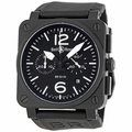 Bell and Ross BR0394-BL-CA Aviation Mens Chronograph Automatic Watch