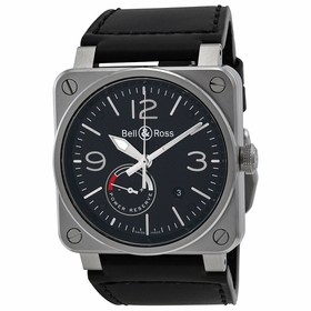 Bell and Ross BR0397-BL-SI-SCA Vintage Mens Automatic Watch