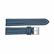 Breitling Blue Leather Strap and White Stitching with a Tang Buckle 20-18mm