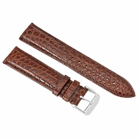 Brooklyn Watch Strap in Brown Alligator Leather - 22 MM