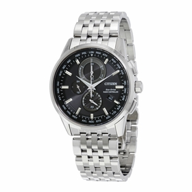 Citizen AT8110-53E World Time A-T Mens Chronograph Eco-Drive Watch