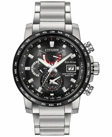 Citizen AT9071-58E World Time A-T Mens Chronograph Eco-Drive Watch