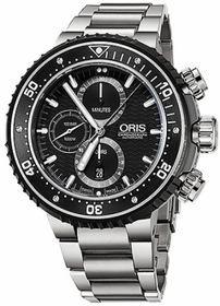 Oris 01 774 7727 7154-Set ProDiver Mens Chronograph Automatic Watch